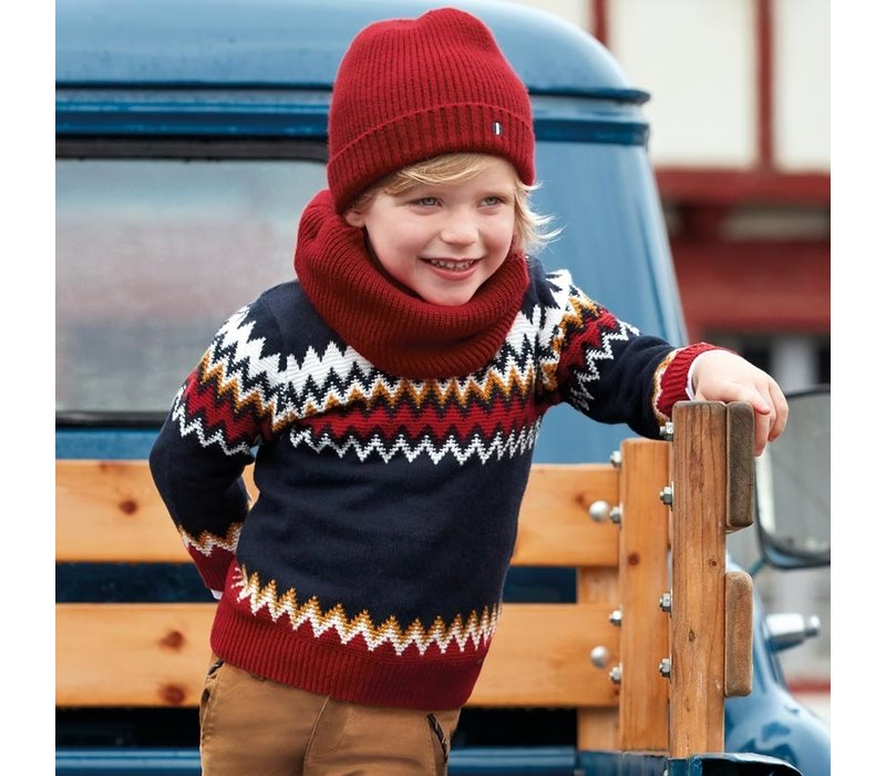 Beautifully knitted winter sweater