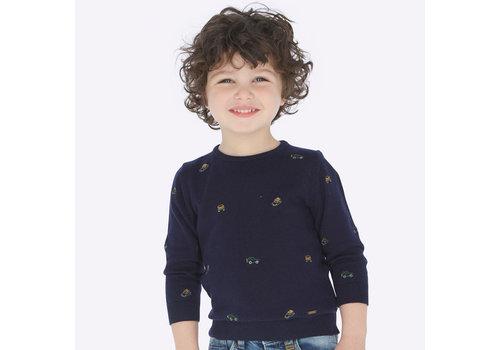 mayoral Dark blue fine knitted boy's sweater