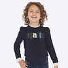 mayoral Beautiful dark blue pullover with beautiful collar and sleeve detail