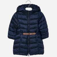 Beautiful long dark blue winter jacket