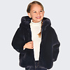 mayoral Beautiful dark blue girl's coat, to be worn on 2 sides