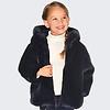 mayoral Wunderschöner dunkelblauer Mädchenmantel, der an 2 Seiten getragen werden kann