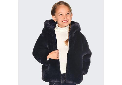 mayoral Mayoral revesible donkerblauwe meisjes jas