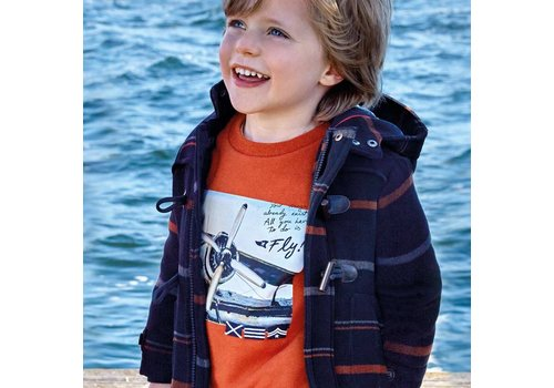 "mayoral Orange boy's sweater ""Plane"""