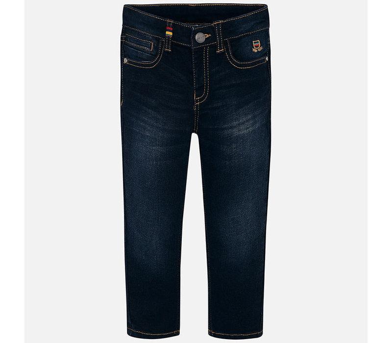 Dark blue jeans, super slim
