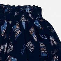 Beautiful dark blue skirt with print