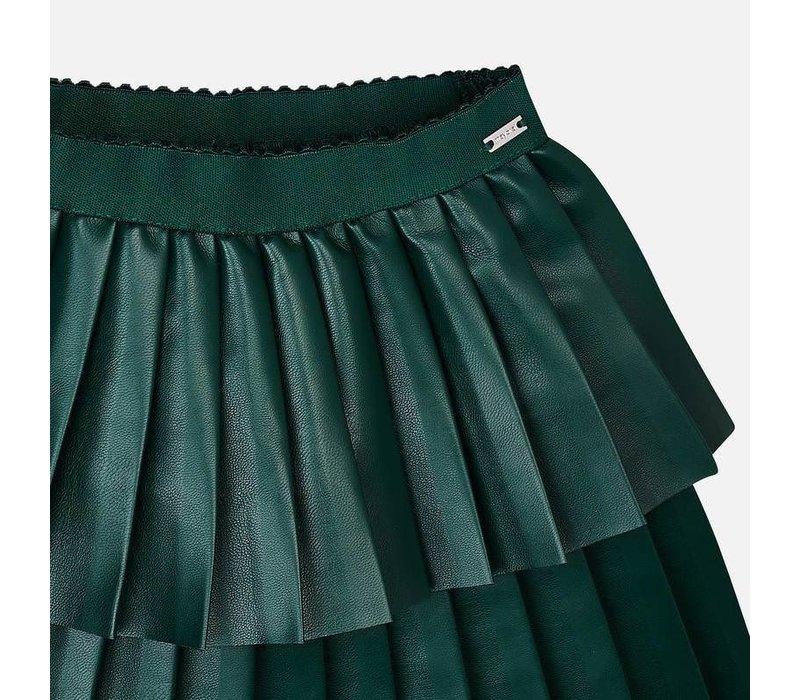 Beautiful dark green pleated skirt