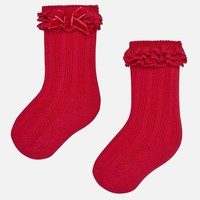 Red baby socks