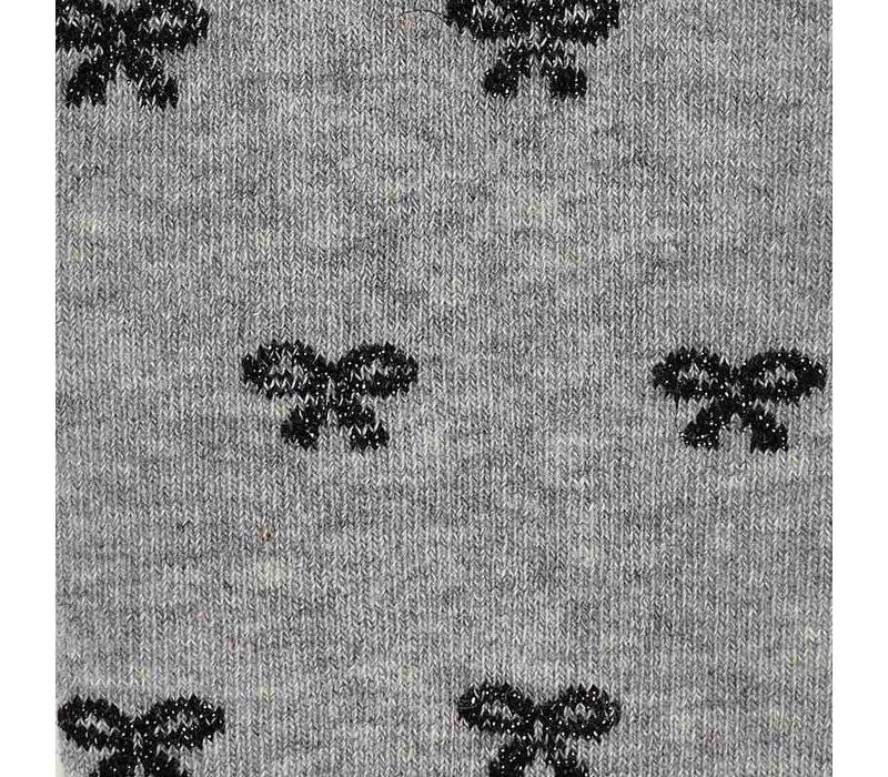 Graue Strumpfhose mit Schleifen