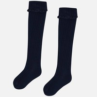 Dark blue knee socks