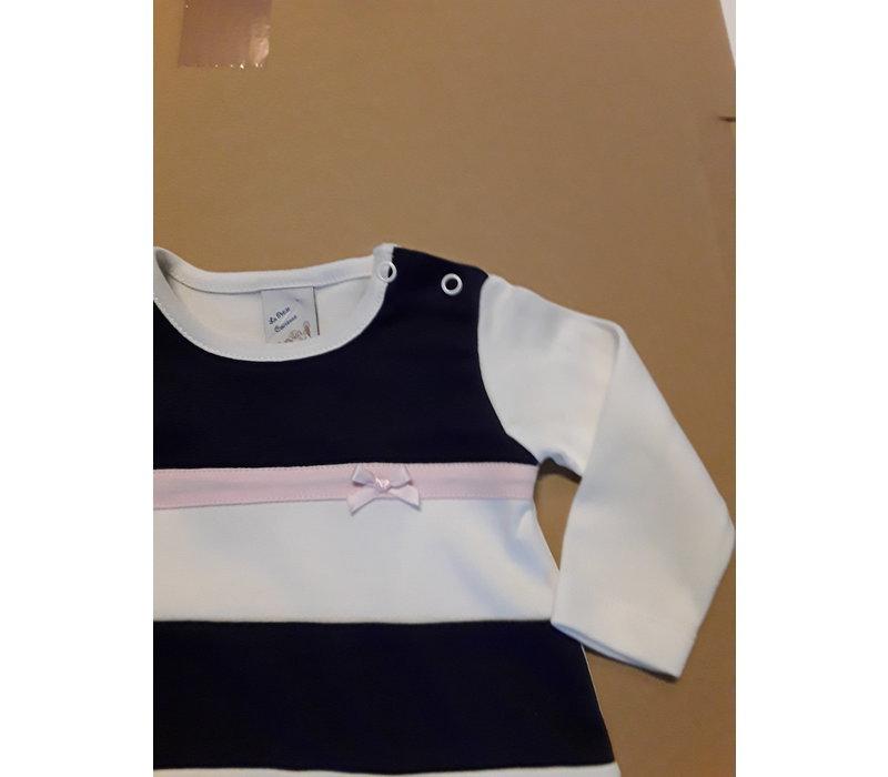 LPC. gestreept baby jurkje