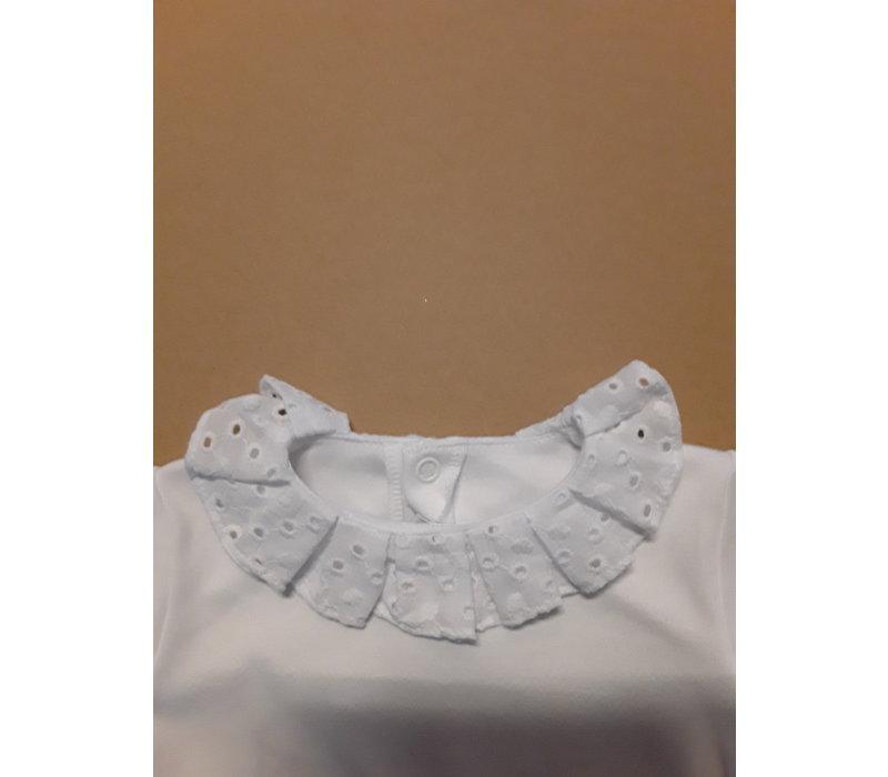 LPC. wit shirt lange mouw met broderie kraagje