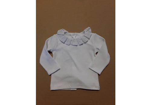 LPC LPC. wit shirt met broderie kraag