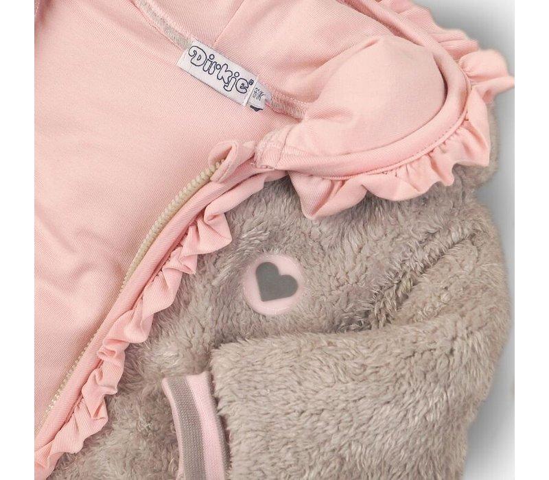 Dirkje baby jasje grijs-roze