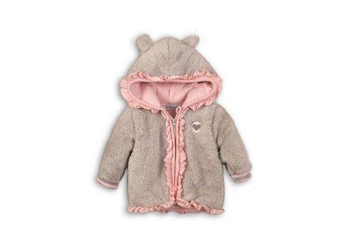Dirkje Dirkje baby jacket gray-pink