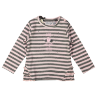 Dirkje striped shirt pink-gray