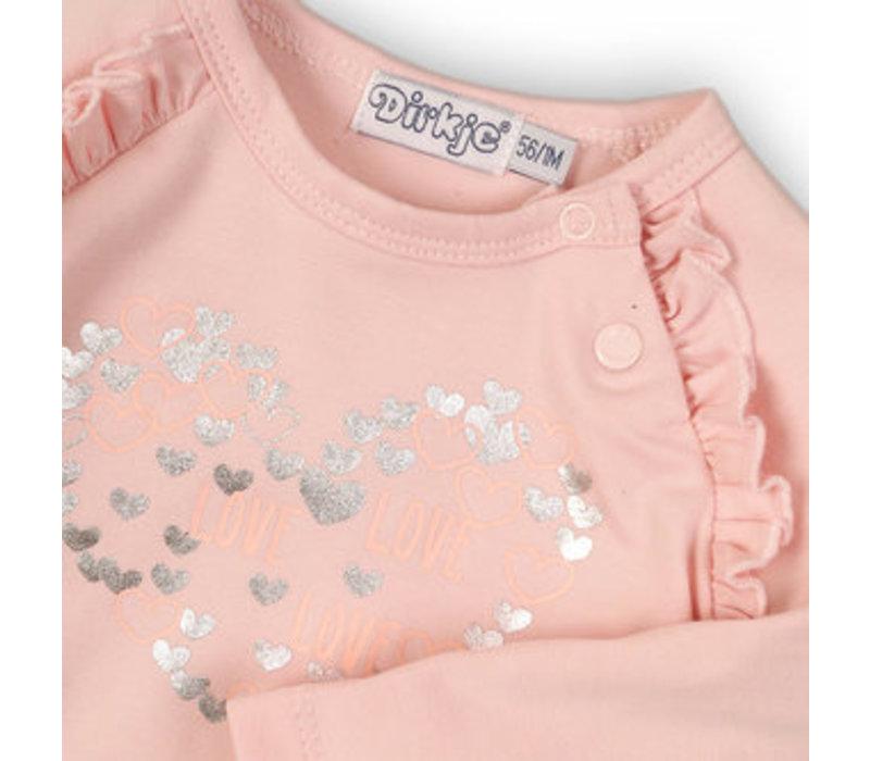 Dirkje zacht roze shirtje lange mouw