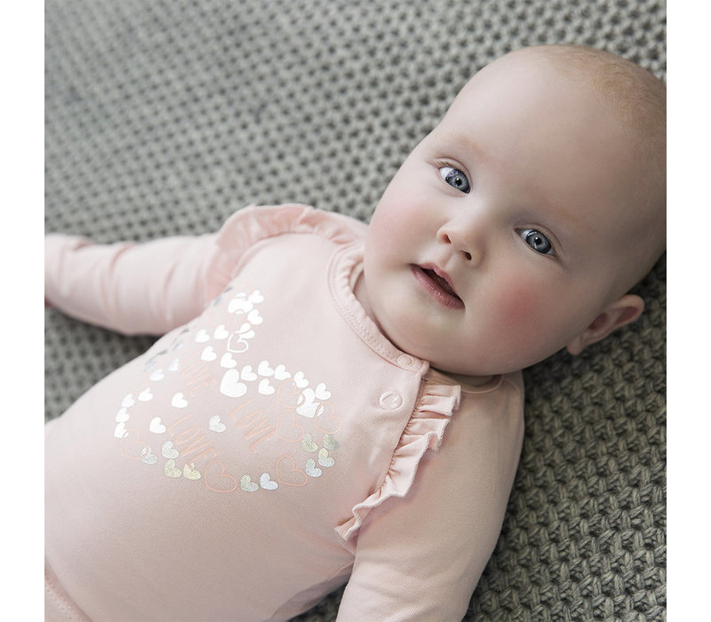 Dirkje soft pink shirt with long sleeves