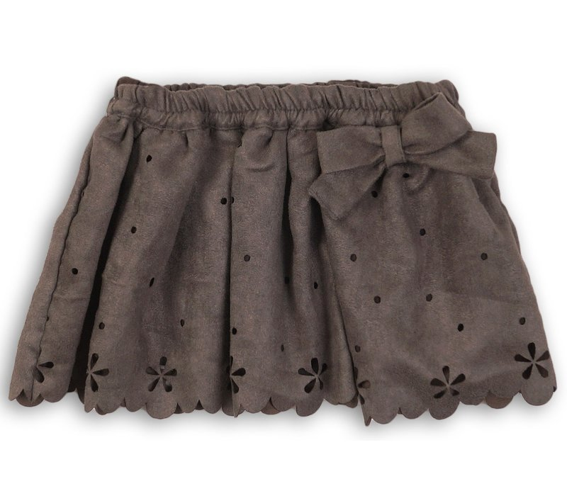 Dirkje gray soft skirt with bow