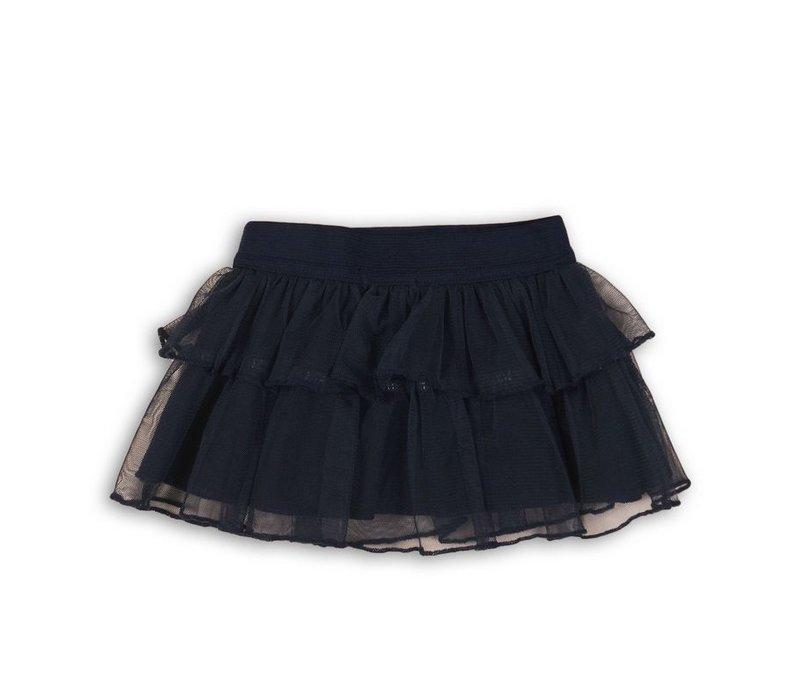 Dirkje navy blue tulip skirt
