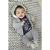 Dirkje Dirkje gray striped boys pants sweater fabric