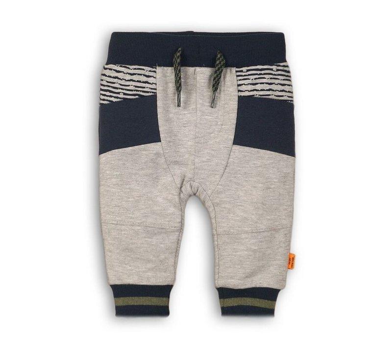 Dirkje jongens joggingbroek grijs-blauw