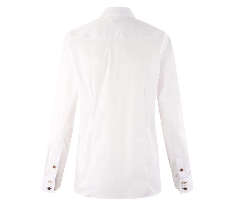 HV Polo blouse Sari white