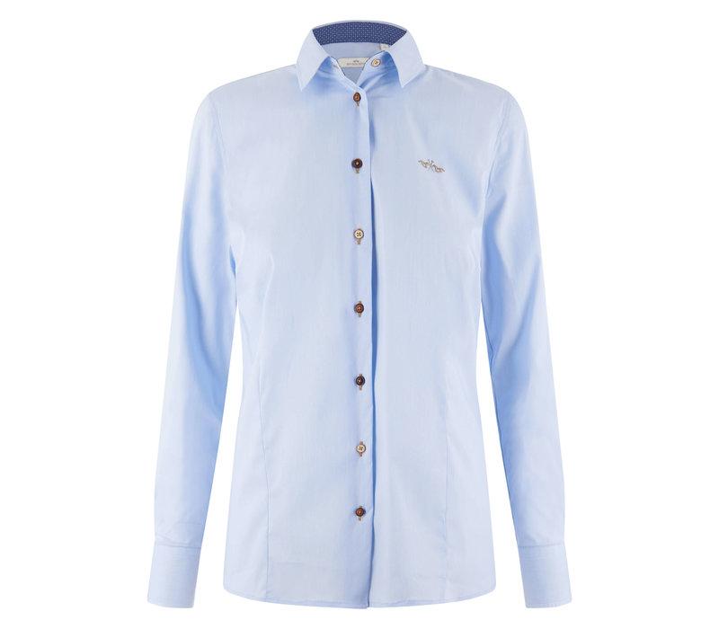 HV Polo blouse Sari light blue