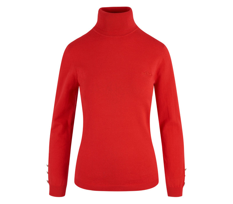 HV Polo classic red turtleneck