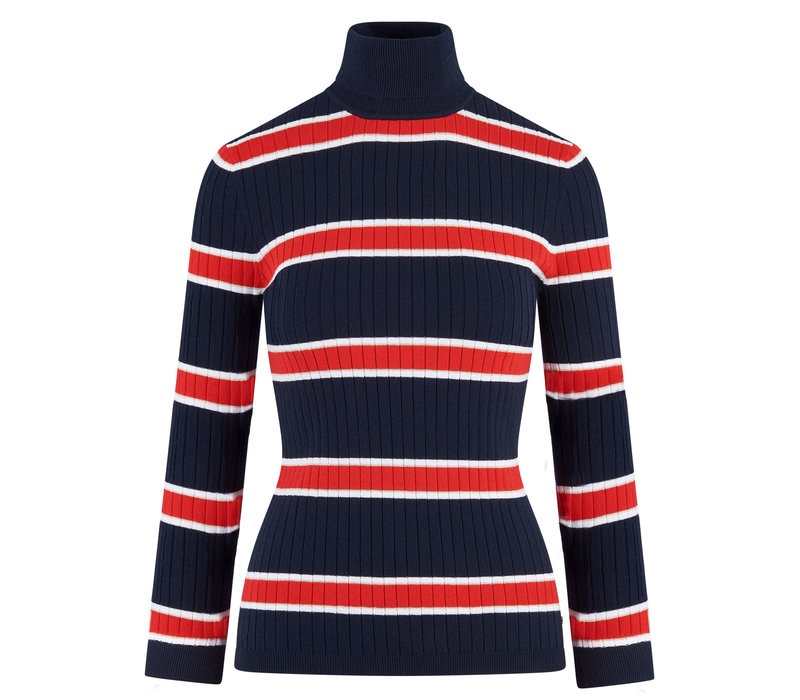HV Polo sporty classic turtleneck multi stripe