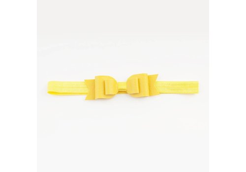 Made for a princess Mini Bow Soft Band Banana Split