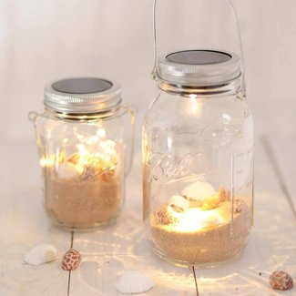 Masonjar Label Solar verlichting Mason Jar 1 LED