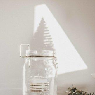 Mason Tea-Light holder gold