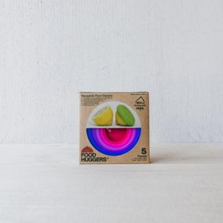 Foodhuggers Food Huggers® en deksels Bright Berry  (set van 5)
