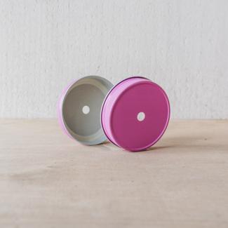 Masonjar Mason Jar regular straw deksel pink