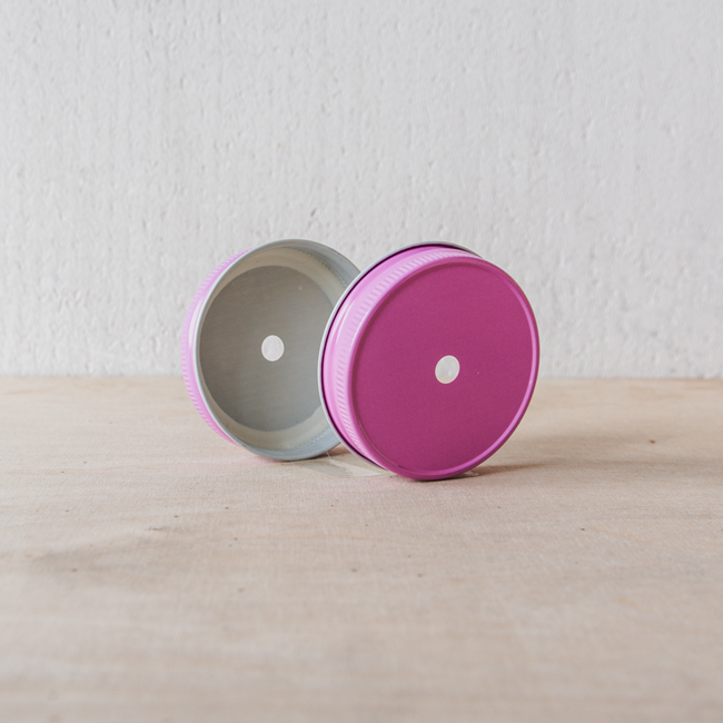 Masonjar Mason Jar regular straw hole lid pink