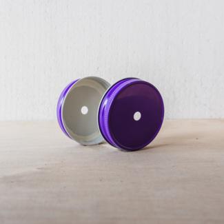 Masonjar regular mouth straw-deksel purple