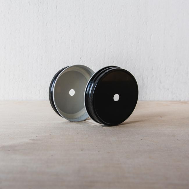 Masonjar Mason Jar regular straw deksel zwart