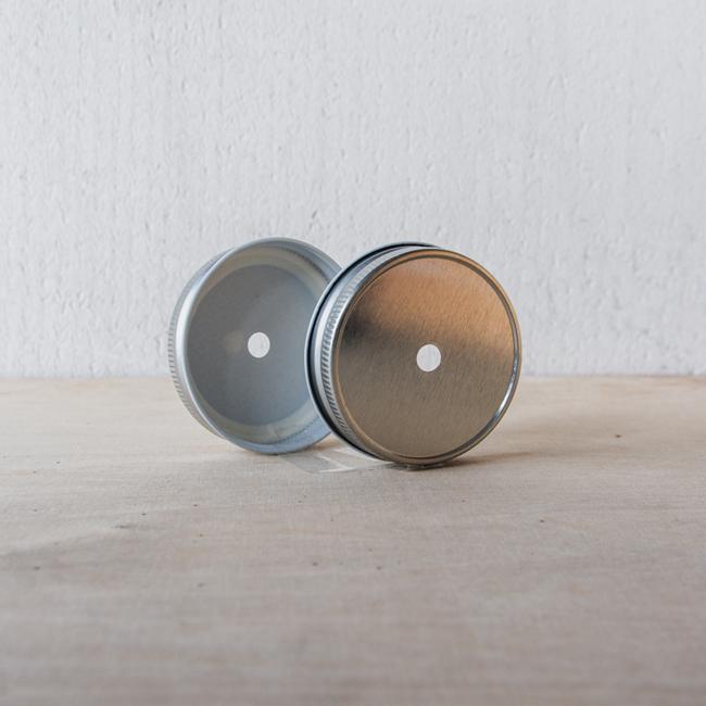 Masonjar Mason Jar regular straw deksel zilver