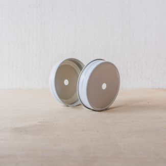 Masonjar Regular Mouth Straw-lid white