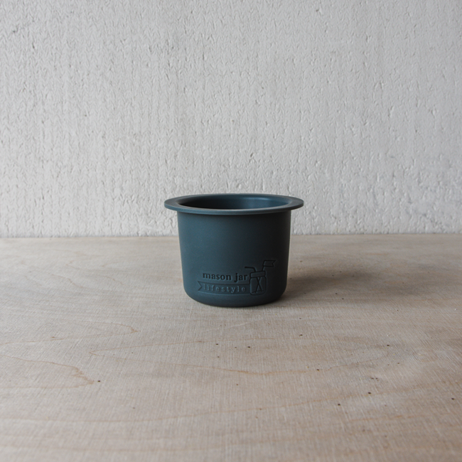 Divider  Cup Wide Mouth Charcoal Gray