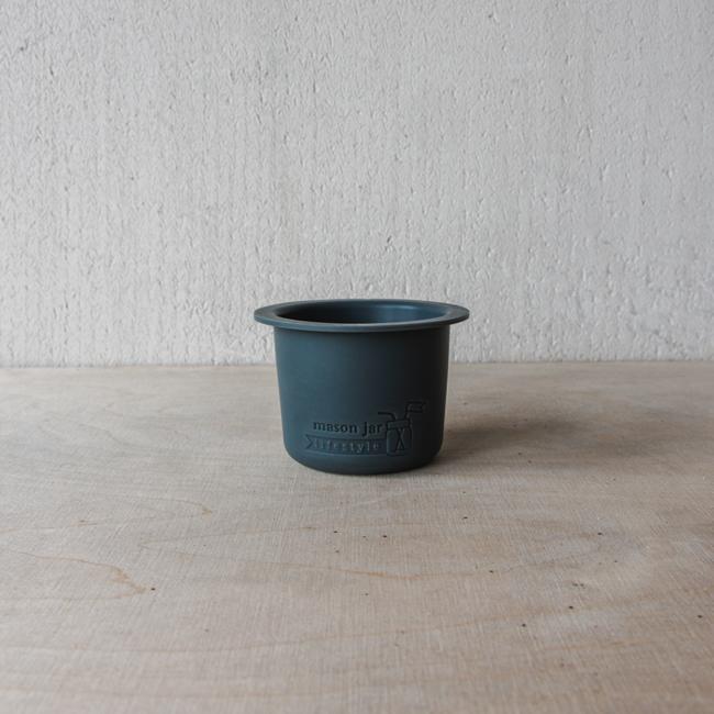 Masonjar Divider  Cup W/M  Charcoal Gray