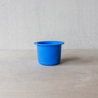 Divider  Cup  Wide Mouth Blue