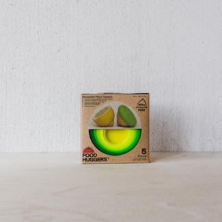 Foodhuggers Food Huggers® en deksels Greens | 5 stuks