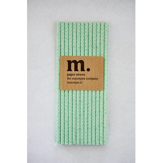 Masonjar Label 004 Paper Straw Quatrefoil Mint Green