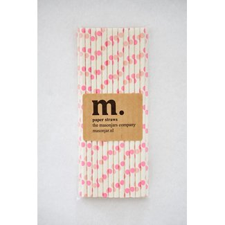 007 Paper Straw Pink Dot