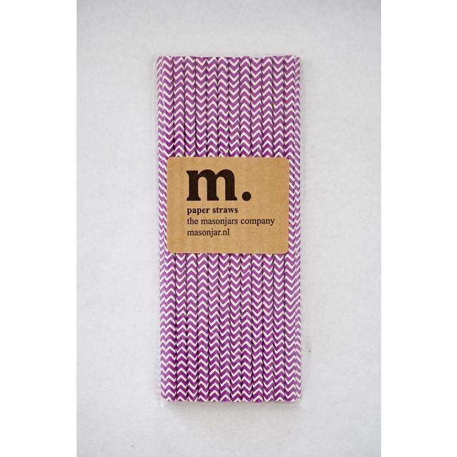 011 Paper straws Purple Chevron