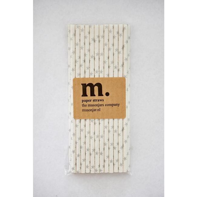021 Paper straws Silver Stars