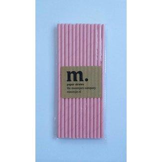 Masonjar Label 024 Paper straws Plain Pink