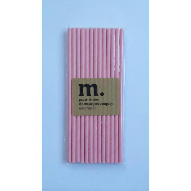 024 Papieren rietjes Plain Pink
